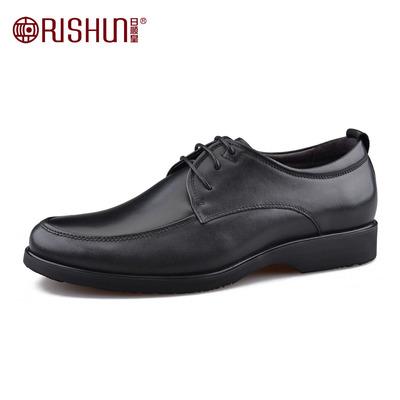 Rishun/日顺皇男鞋春秋新款商务皮鞋男士牛皮系带透气正装皮鞋