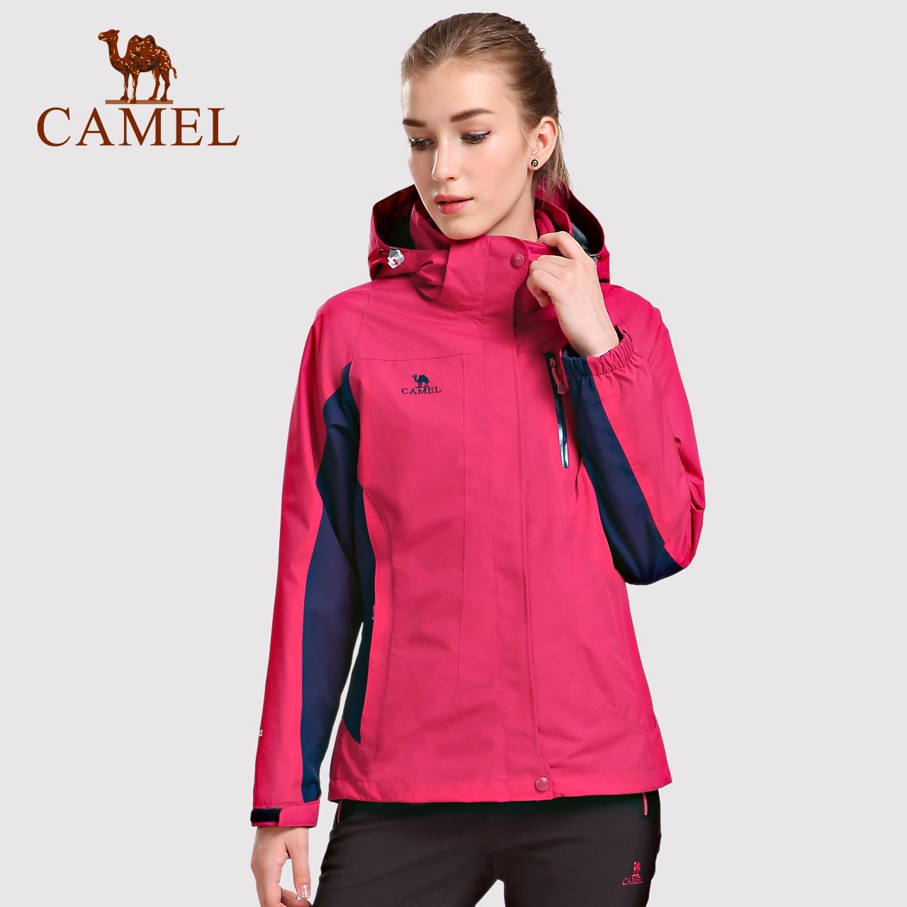 情侣款Camel/骆驼户外登山服冬季防寒服男女防风保暖三合一冲锋衣