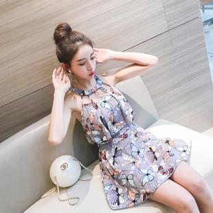 泳衣女连体裙式保守遮肚显瘦2018新款韩国学生温泉性感小清新泳装