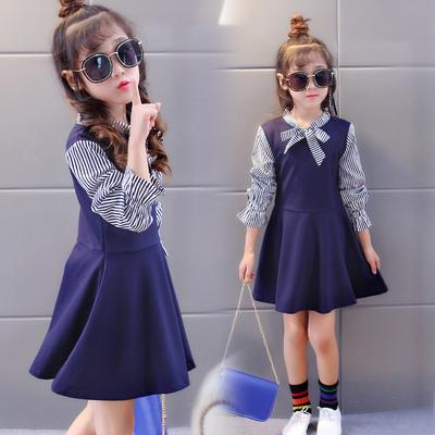 女童连衣裙长袖春秋中长款童装裙子中大童儿童秋装新款韩版公主裙