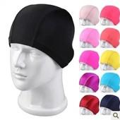 纯色 多色可选可 布质泳帽 高弹面料 高档素色布泳帽 时尚图片
