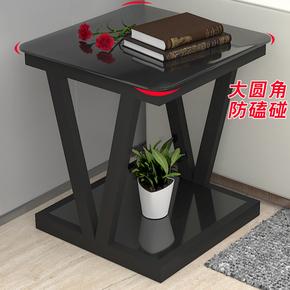 边几现代简约客厅迷你小茶几玻璃小方桌正方形小桌子床头桌边角桌