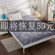 幔nia bed quilt single piece thick quilted bed cover 1.8m1.5 m Simmons protective cover non-slip mattress cover