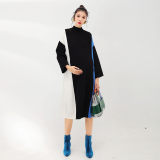 LAMMA sweater maternity dress knit dress wool cotton long section warm bottoming shirt loose autumn and winter wear