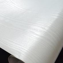 家具翻新贴纸橱柜衣柜门贴PVC防水加厚自粘柜子白色复古仿木纹纸