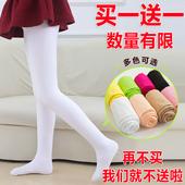 白色丝袜宝宝连体袜 打底裤 袜夏季薄款 春秋女童舞蹈袜纯棉儿童连裤