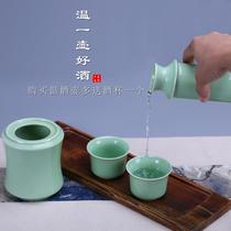 三两陶瓷温酒器壶烫酒热暖酒壶酒具套装家用青瓷清酒黄酒白酒杯