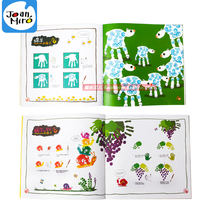 Merlot Children's Finger Painting Book Kindergarten Graffiti Participation Tutorial Baby Puzzle Finger Paint Drawing Guide