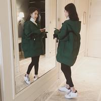 原宿学生面包服女中长款冬季2017新款宽松加厚羽绒棉衣棉袄外套潮