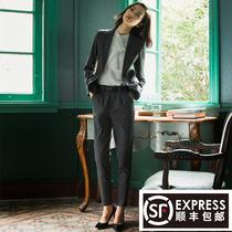 春秋职业套装女时尚新款西装面试装女士正装小西服工作服气质工装