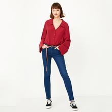 ONLY秋季新款 显瘦牛仔长裤 117332509 低腰修身