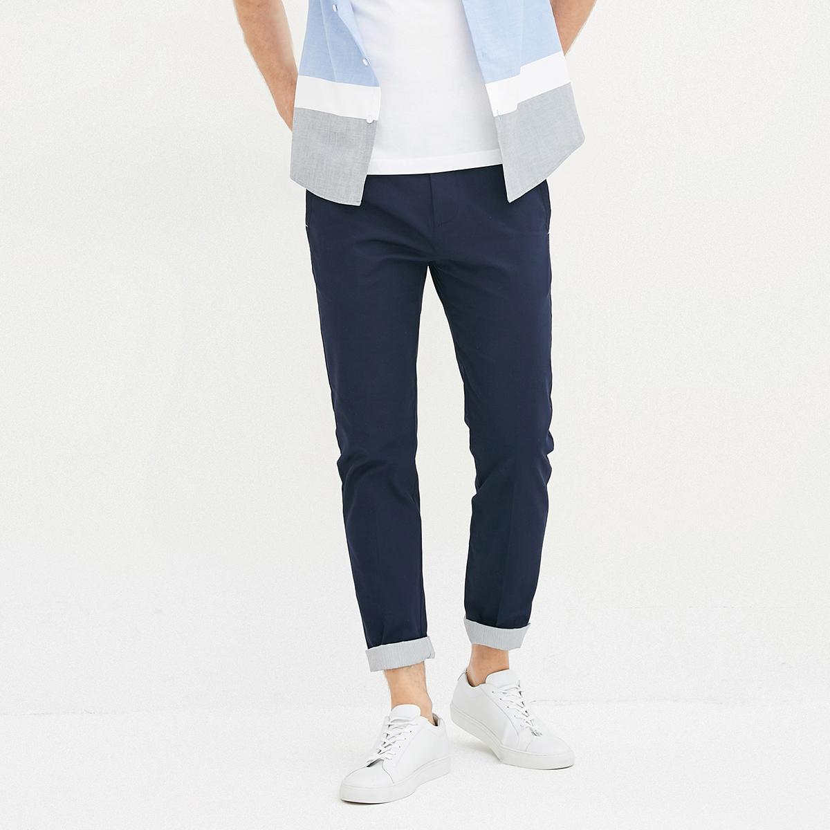 条纹莱卡长裤