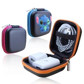 蓝牙耳机收纳包 小 迷你 充电器数据线整理盒子 便携创意可爱韩版