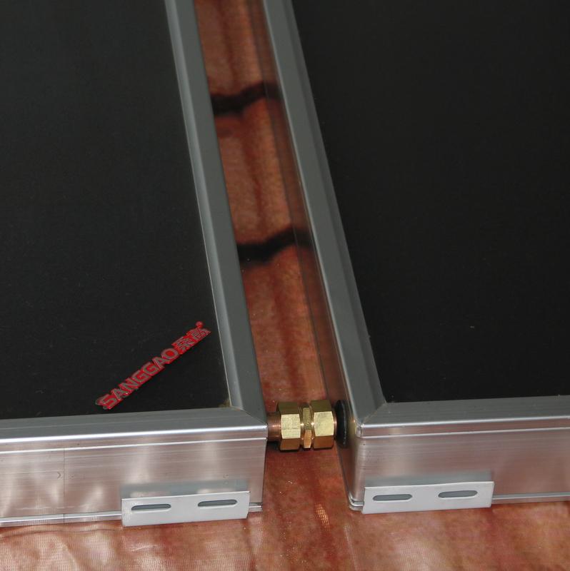 新品桑高平板承压式太阳能热水器家用全自动别墅款光电两用分体式