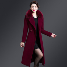 Special woolen clothes Women's medium and long Korean version 2019 new woolen clothes autumn and winter without double-sided cashmere overcoat