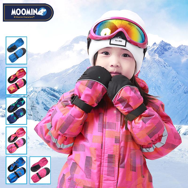 儿童连指手套防水滑雪