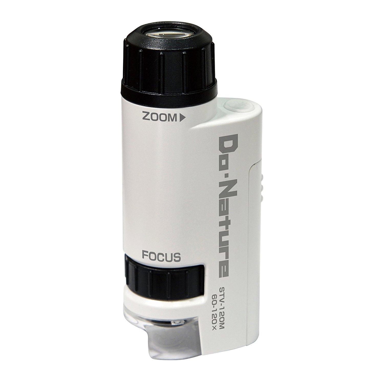 现货日本  Kenko 120 Do Nature 便携迷你显微镜60-120倍LEDUV灯