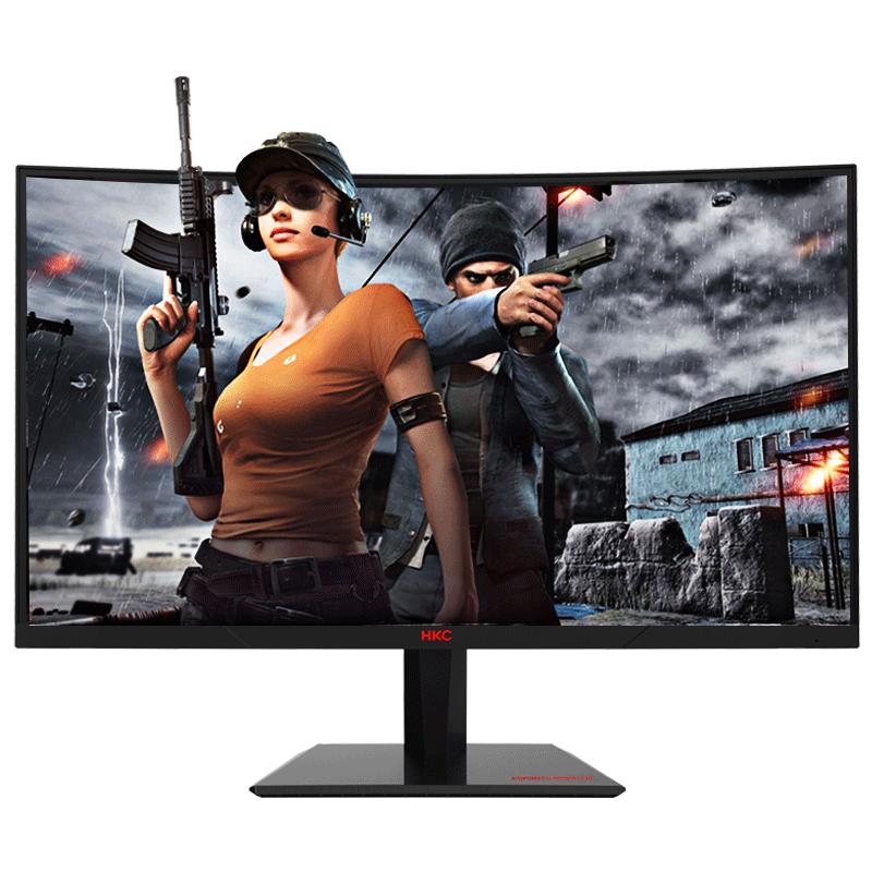 HKC GF40 24英寸144hz显示器电脑曲面电竞宽屏幕hdmi游戏网吧家用护眼台式机高清液晶1080p外接27小金刚电玩