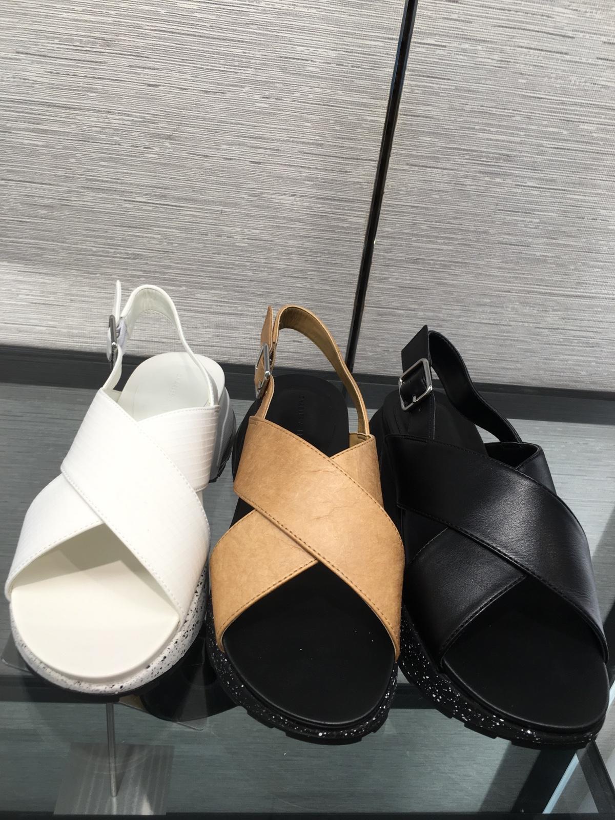 新加坡代购CHARLES&KEITH凉鞋CK1-70380663休闲风交叉设计中跟