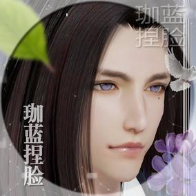 【珈蓝】剑三成男捏脸 剑网3成男脸型数据 重制版男神 空灵 新建N