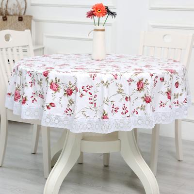 加厚圆桌布环保加绒塑料大圆形餐桌布圆台布PVC桌布防水防油免洗