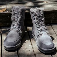 雪地靴男鞋皮毛一体纯羊毛高帮防滑马丁靴子冬季保暖加绒加厚棉鞋