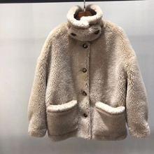 反季皮草颗粒羊剪绒女羊羔毛短外套安娜同款清仓特价宽松皮毛一体