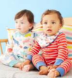 Spot-coded British counters imported children's clothes, baby boys and girls long sleeves, one-piece clothes long climb