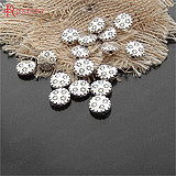 Vintage alloy decorative accessories bracelet necklace earrings decorative beads 10MM round ancient silver 50 20471