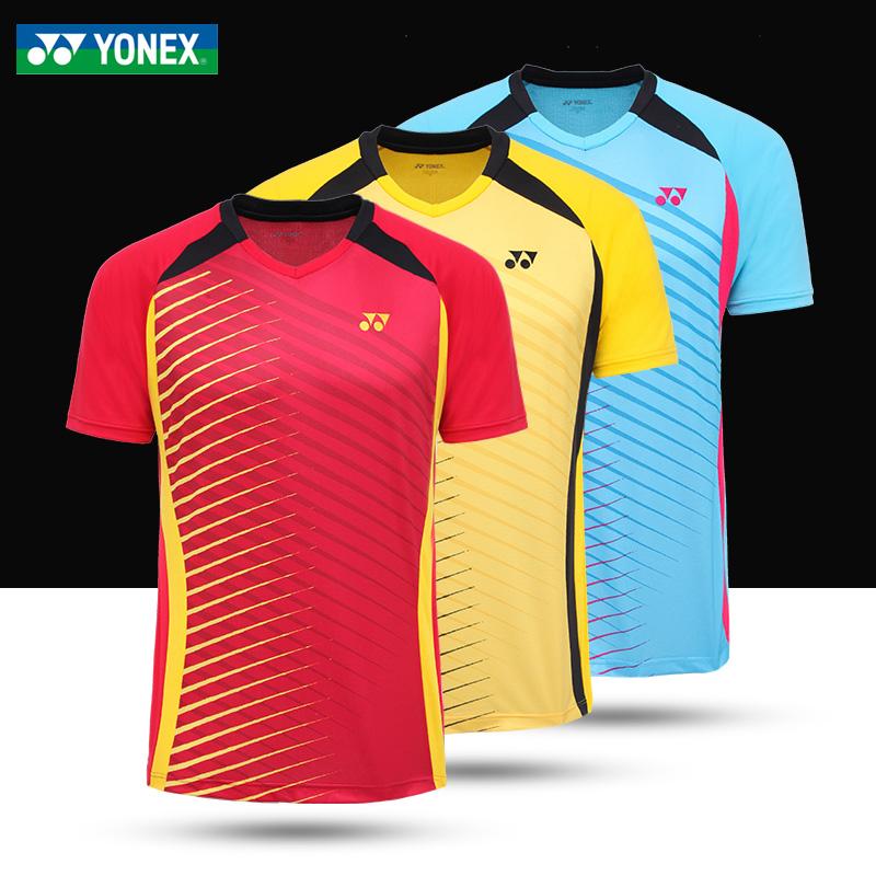 16新款 尤尼克斯羽毛球服男款上衣短袖夏速干T恤yy正品运动上装5元优惠券