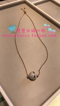 代购专柜正品 SWAROVSKI施华洛世奇玫瑰金圆球水晶项链5216040
