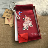 Loss promotion Suzhou embroidery Su embroidery silk scarf Magnolia abroad gifts long female silk scarf Suzhou specialty