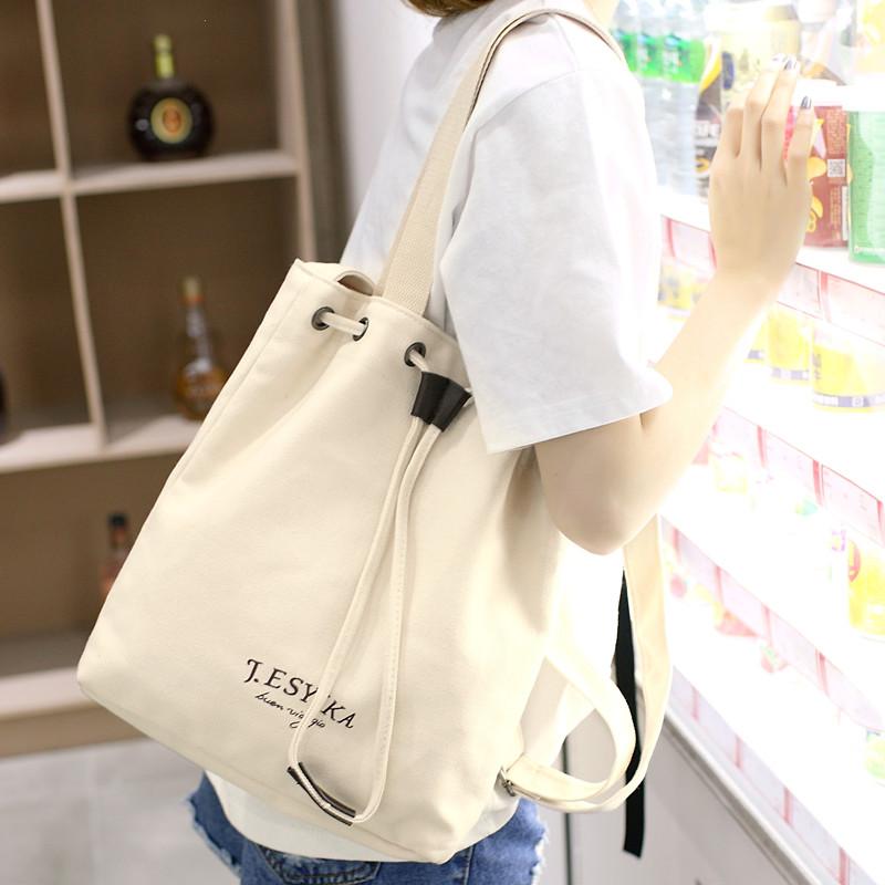 新款韩版帆布包女单肩斜挎大包包学生文艺布袋包百搭手提布包2017