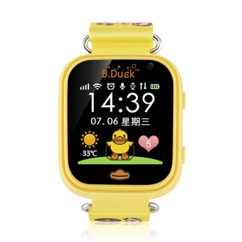 B.Duck小黄鸭儿童智能电话手表防水触摸屏男女孩学生定位通话手表