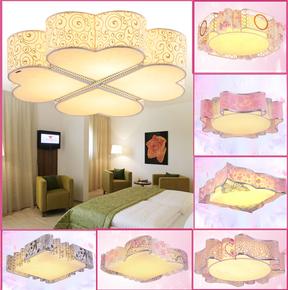 LED吸顶灯卧室灯温馨浪漫简约书房间灯圆形心形儿童婚房客厅灯具