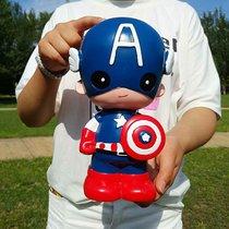 蝙蝠侠美国队长存钱罐大号超人蜘蛛侠储蓄罐创意儿童房摆件男孩