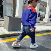 Chao Ma Feifei children's old retro jeans 2019 spring new washed harem pants tide Korean children's clothing