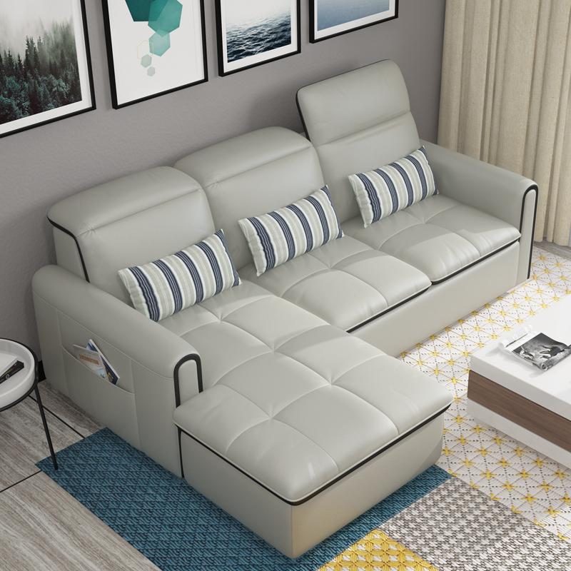 简约现代真皮沙发l型沙发