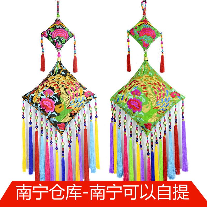 广西民族新年春节吉祥大挂件 办公室客厅装饰品民族风挂饰 包邮