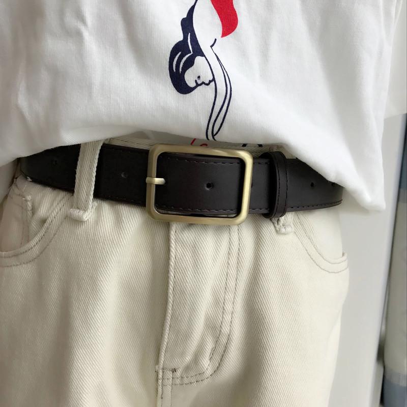 复古铜扣宽腰带