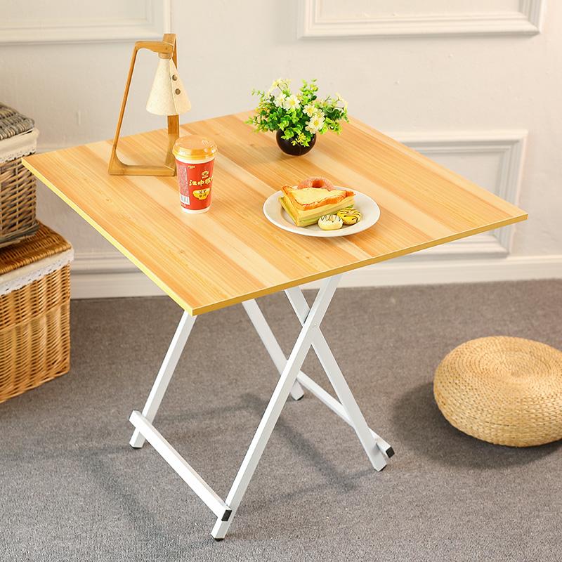 折叠桌简易小桌子便携摆摊桌宿舍学习桌正方形小户型4人家用餐桌