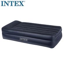 正品INTEX充气床2代内置电泵枕头单人充气床垫双人加厚加大气垫床