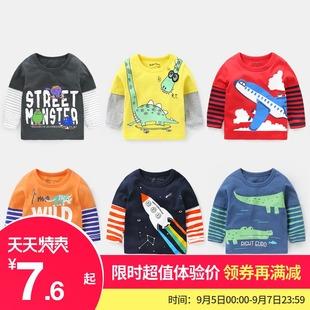 男童长袖T恤纯棉打底衫秋装春秋童装儿童宝宝上衣小童婴儿潮女童