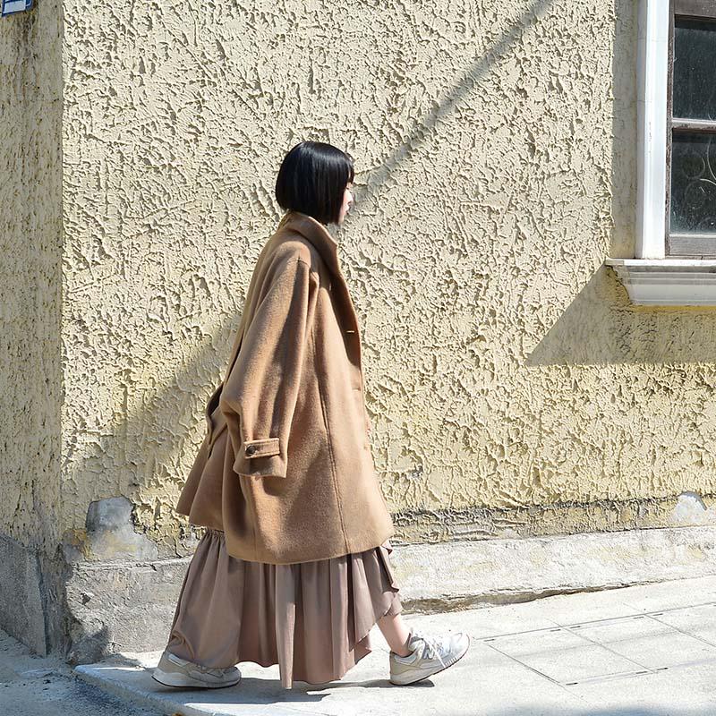 双面穿毛呢大衣