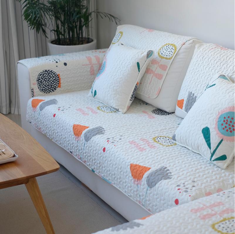 沙发垫清新现代简约客厅纯棉