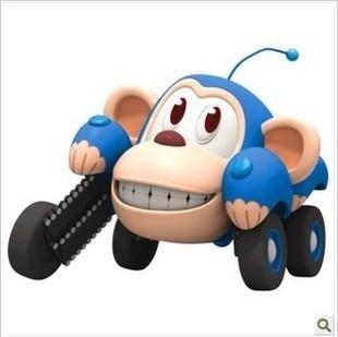 正版咘隆家族玩具竞速回力车全套皮皮蹦蹦拉拉莉莉虎警长莱莱现货
