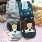 Puppy cute small animal snowflake seiquer autumn and winter haraave cute anti-slip low help socks cotton light mouth short-mouth socks