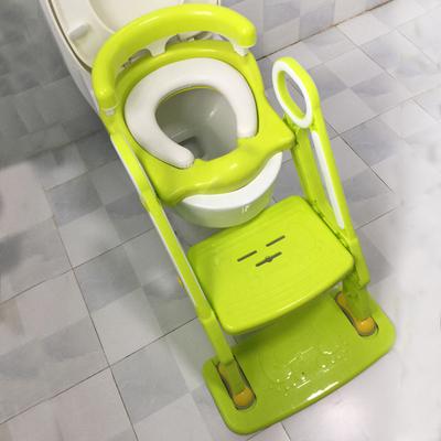 儿童坐便器马桶梯折叠式男女宝宝坐便椅小孩软垫马桶圈加大号便盆2018新款