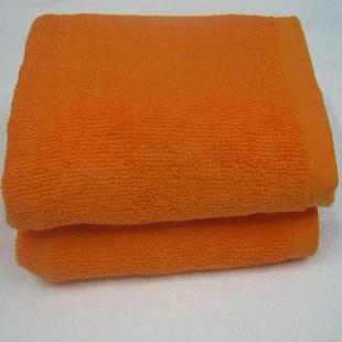 足浴按摩桑拿美容SPA纯全棉毛巾超强吸水不褪色 桔黄色面巾