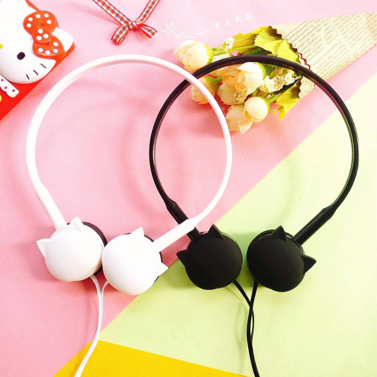 耳机头戴式女糖果色